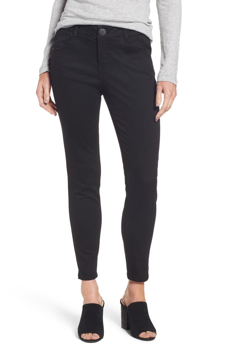 WIT & WISDOM Ab-Solution Skinny Ankle Jeans, Main, color, Black