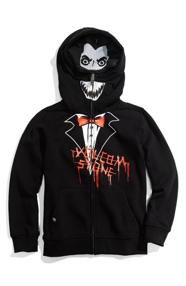 VOLCOM 'Fear' Mask Hoodie, Main, color, 001