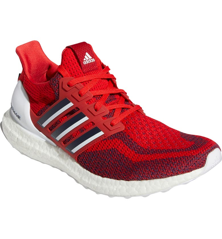 ADIDAS UltraBoost DNA Running Shoe, Main, color, SCARLET/ TEAM NAVY BLUE/ WHITE