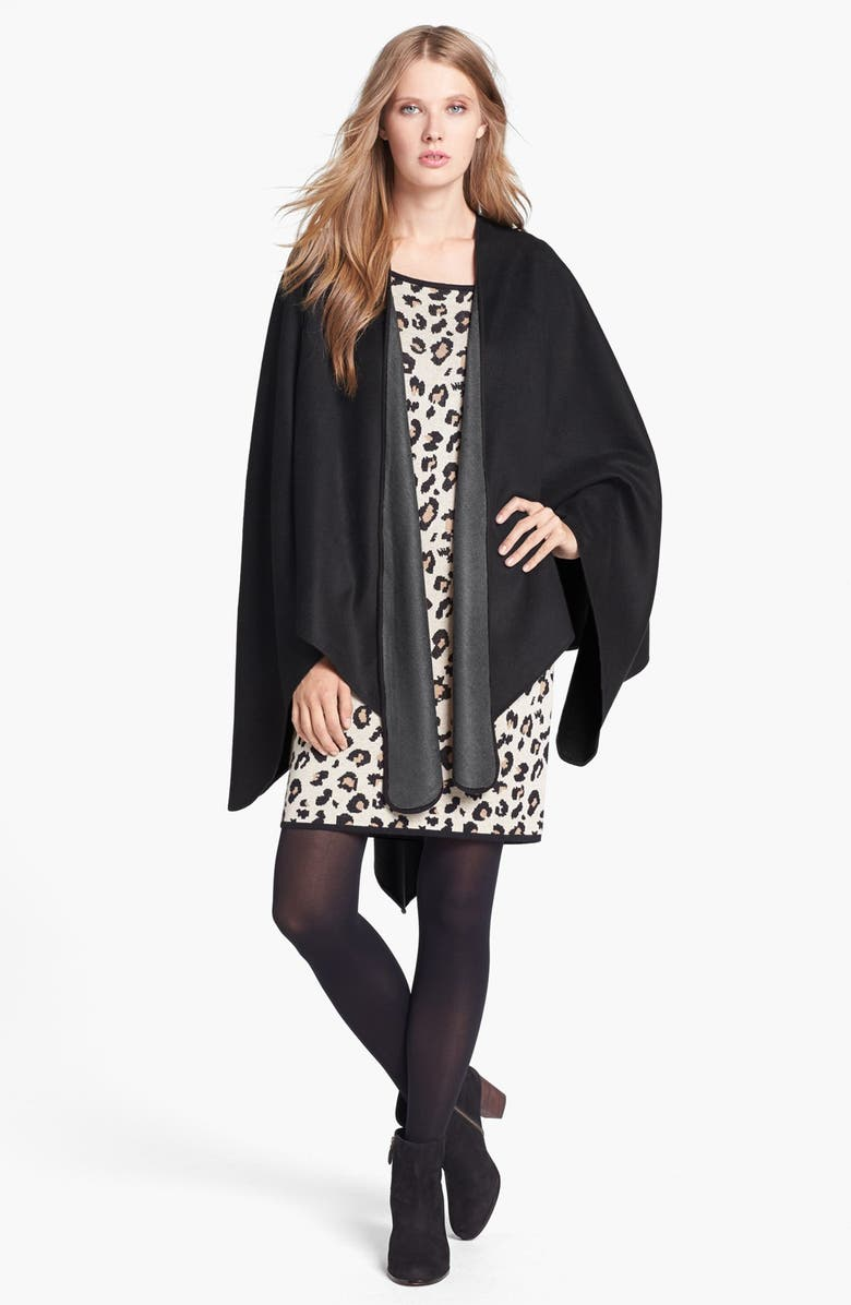 CHELSEY Solid Reversible Silk Cape, Main, color, 020