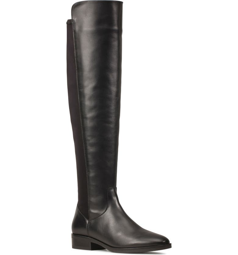 CLARKS<SUP>®</SUP> Pure Caddy Over the Knee Boot, Main, color, BLACK LEATHER