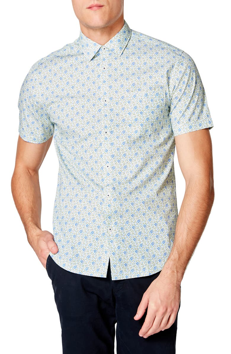 GOOD MAN BRAND Slim Fit On Point Floral Shirt, Main, color, BLUE DAISY