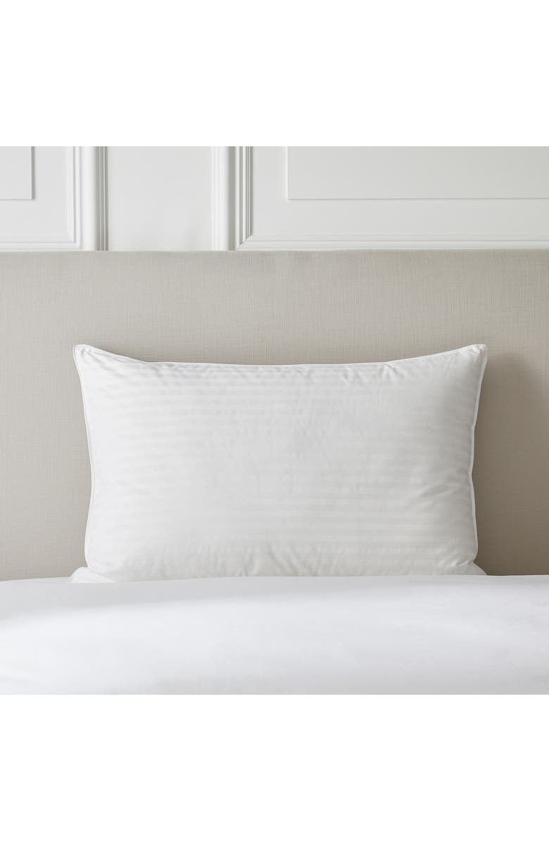 THE WHITE COMPANY Medium Firm Hungarian Goose Down & Feather Pillow, Main, color, 100
