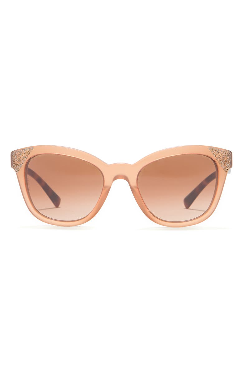 VALENTINO 52mm Cat Eye Sunglasses, Main, color, OPAL POUDRE/ POUDRE CRYSTAL