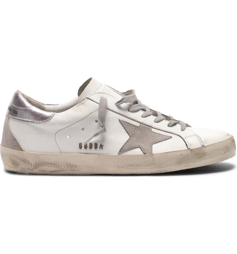 GOLDEN GOOSE Super-Star Sneaker, Main, color, WHITE/ ICE/ SILVER