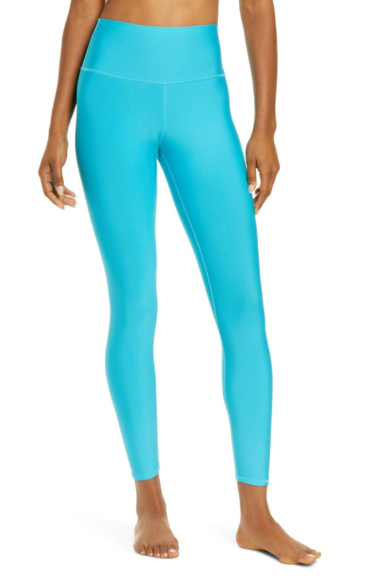 ALO Airlift High Waist 7/8 Leggings, Main, color, BRIGHT AQUA