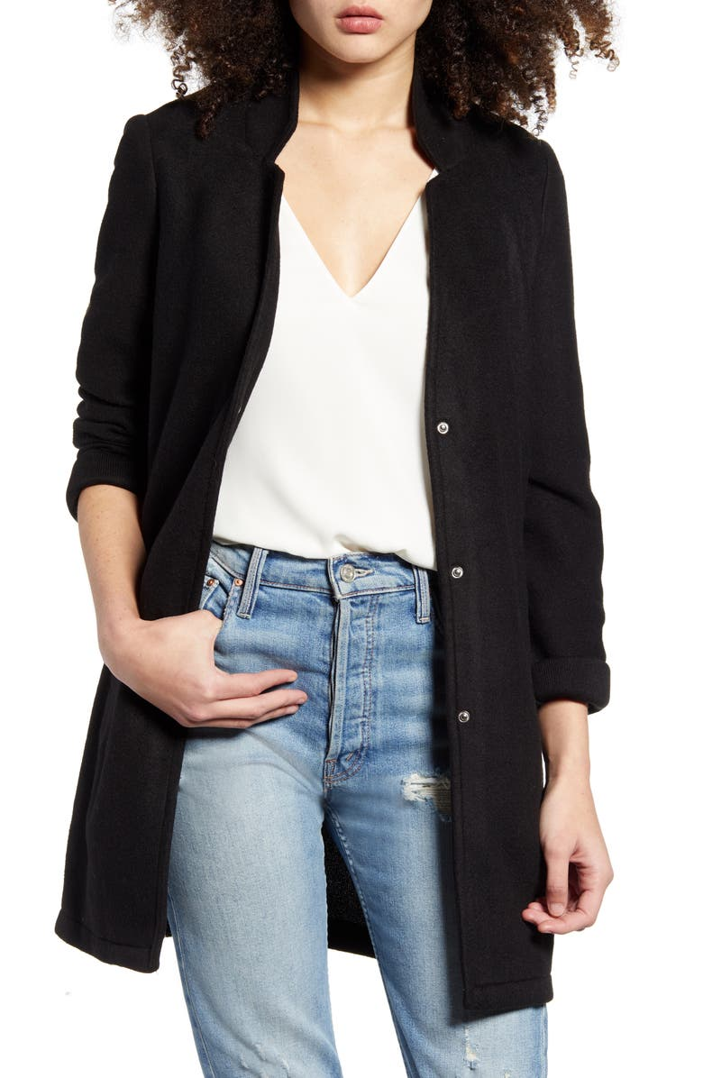 VERO MODA Katrine Brushed Jacket, Main, color, 001