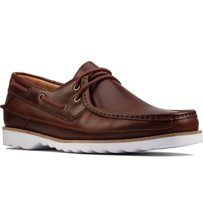 CLARKS<SUP>®</SUP> Durleigh Sail Boat Shoe, Main, color, TAN LEATHER