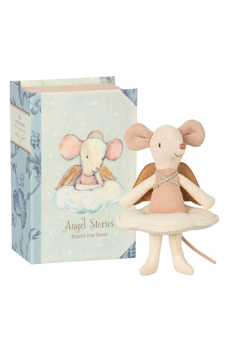 MAILEG Angel Mouse in a Book, Main, color, 960