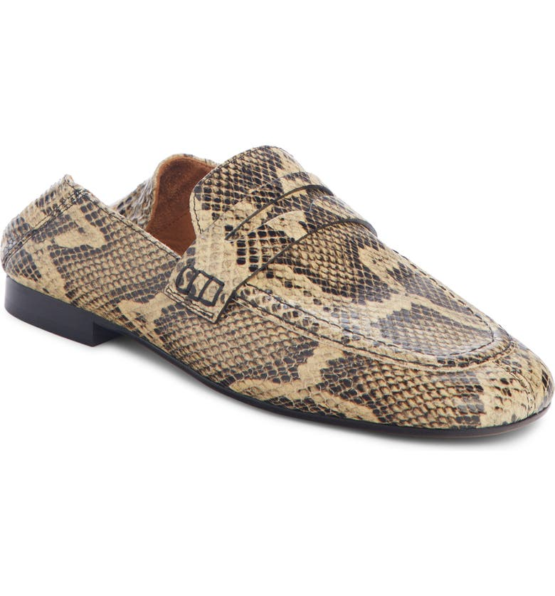 ISABEL MARANT Fezzy Snakeskin Embossed Convertible Loafer, Main, color, 253