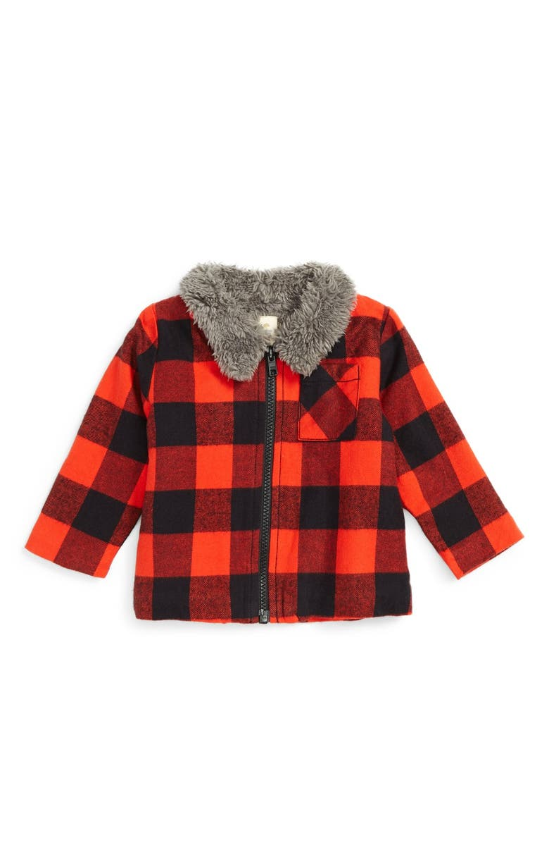 TUCKER + TATE Flannel Jacket, Main, color, 001