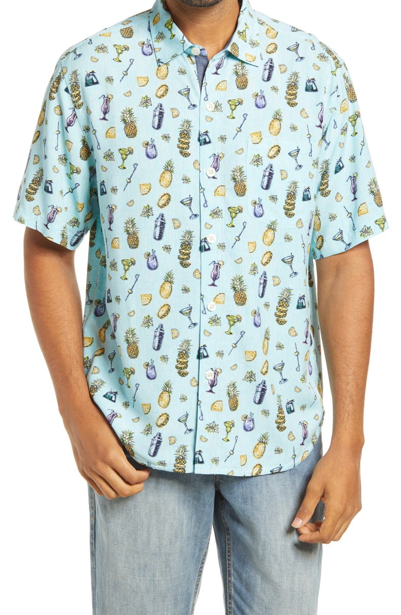TOMMY BAHAMA Men's Mixer Short Sleeve Button-Up Shirt, Main, color, 400