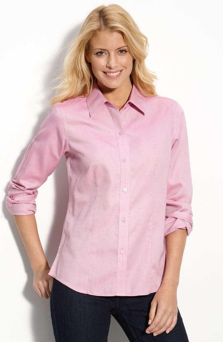 FOXCROFT Oxford Cloth Fitted Shirt, Main, color, 930