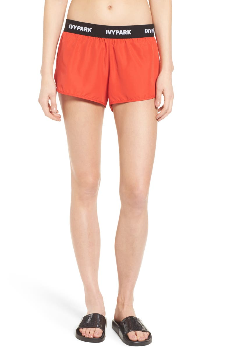 IVY PARK<SUP>®</SUP> Logo Waist Running Shorts, Main, color, 600