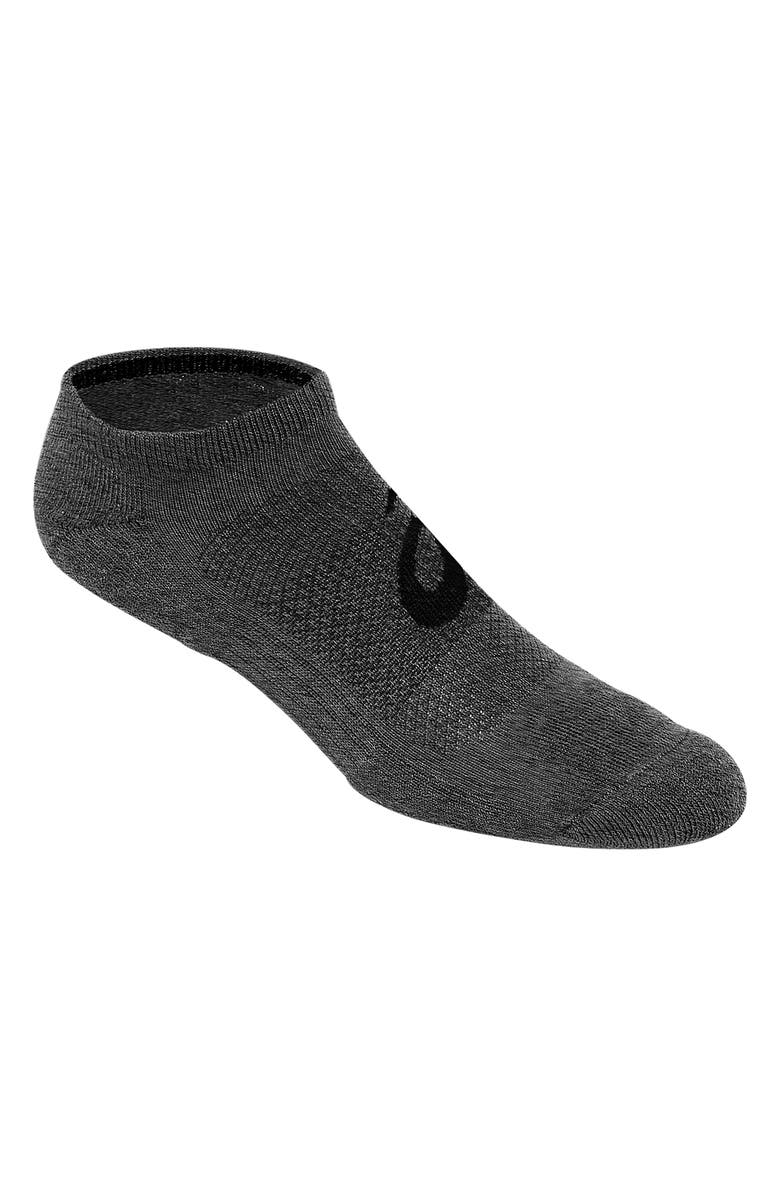ASICS<SUP>®</SUP> Invasion 6-Pack No-Show Socks, Main, color, HEATHER IRON