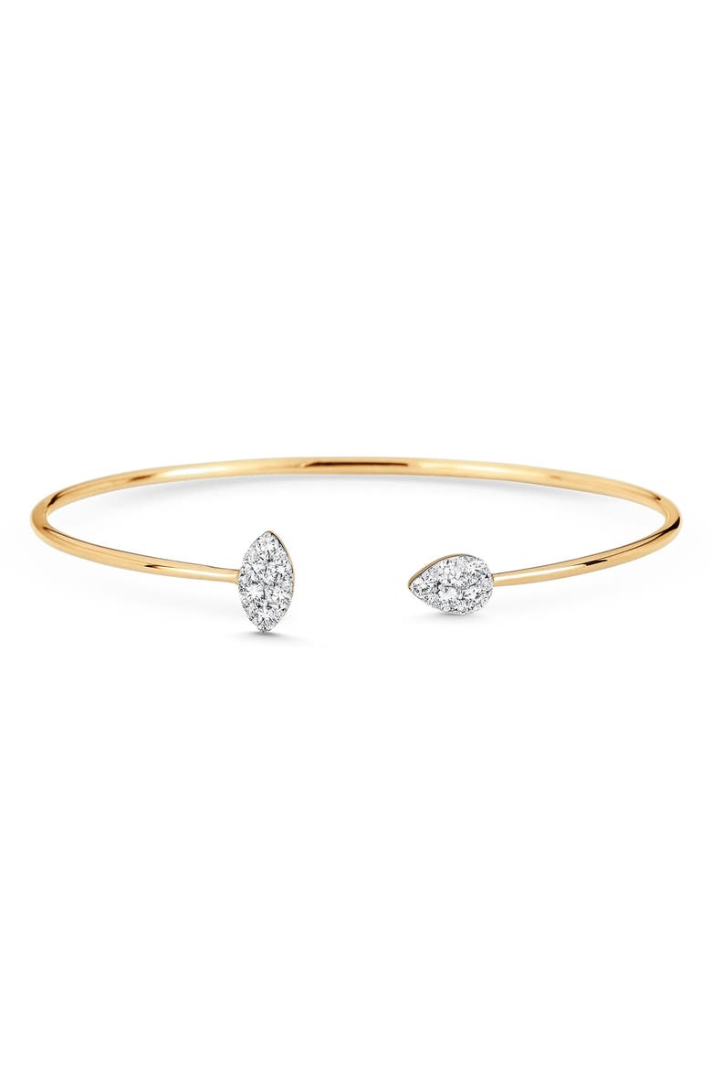 SARA WEINSTOCK Reverie Pear & Marquise Diamond Cuff Bracelet, Main, color, 18K YELLOW GOLD