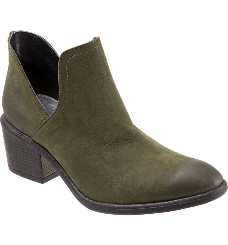 BUENO Dylan Cutout Bootie, Main, color, ARMY GREEN NUBUCK