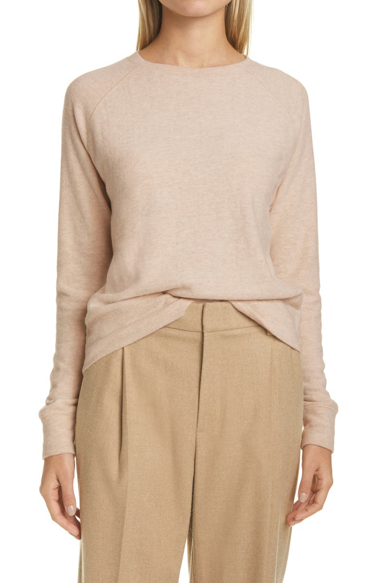 VINCE Long Sleeve Top, Main, color, LT H MARZIPAN