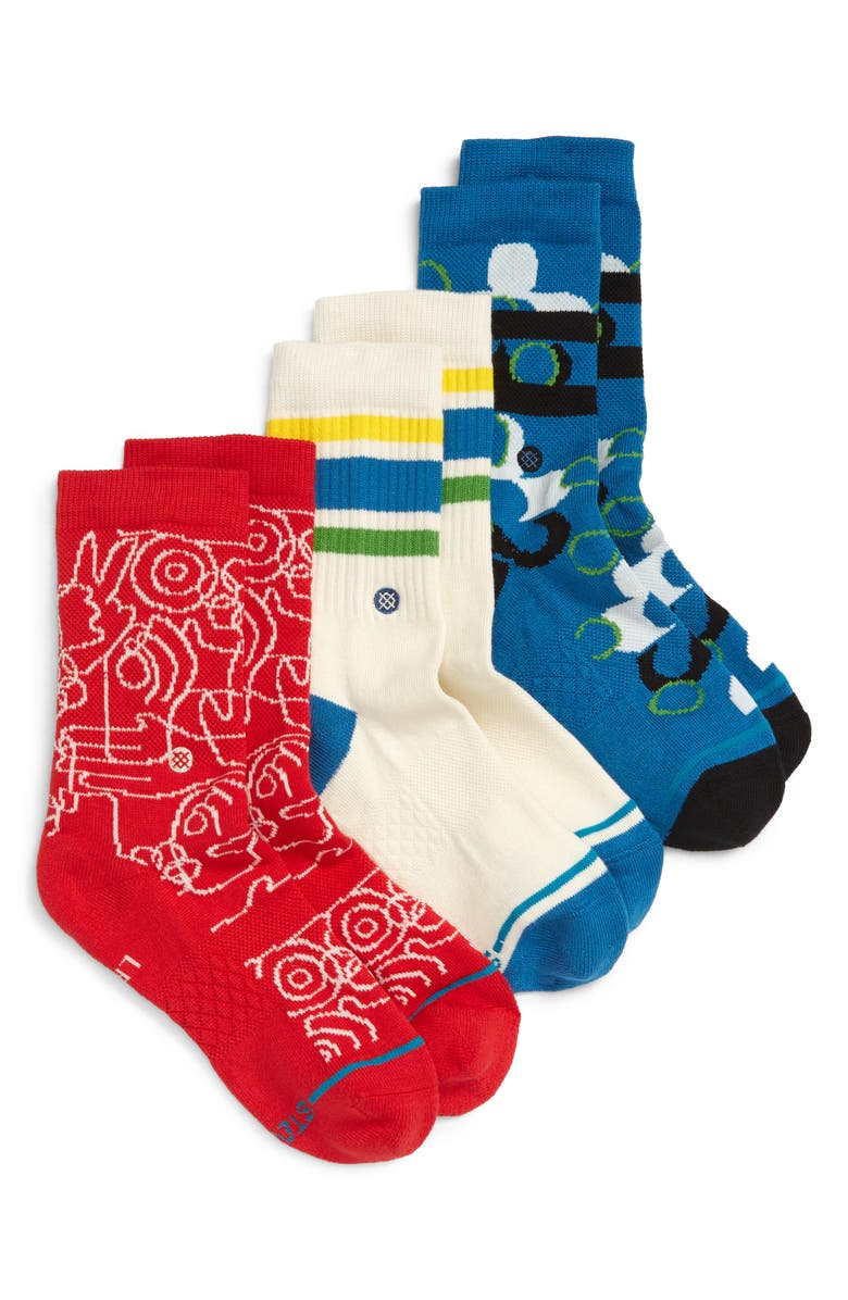 STANCE Grasproots Assorted 3-Pack Socks, Main, color, 400