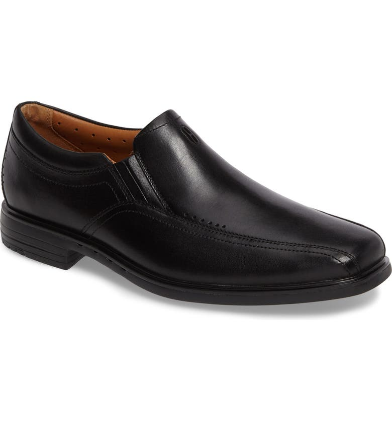 CLARKS<SUP>®</SUP> Un.Sheridan Go Loafer, Main, color, BLACK LEATHER