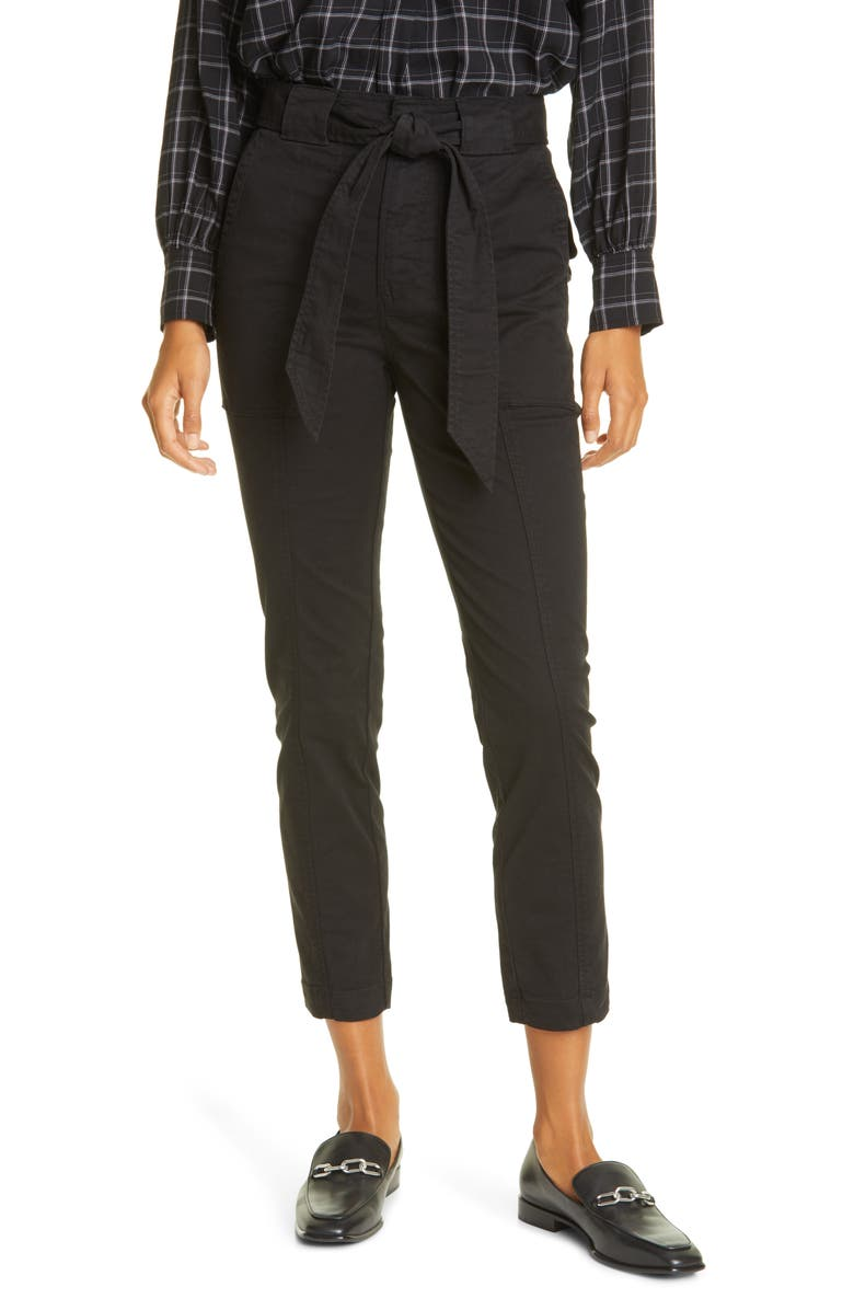 LA VIE REBECCA TAYLOR Patrice Tapered Ankle Pants, Main, color, 001