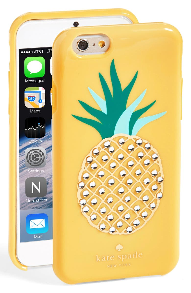 KATE SPADE NEW YORK 'pineapple' iPhone 6 case, Main, color, 700