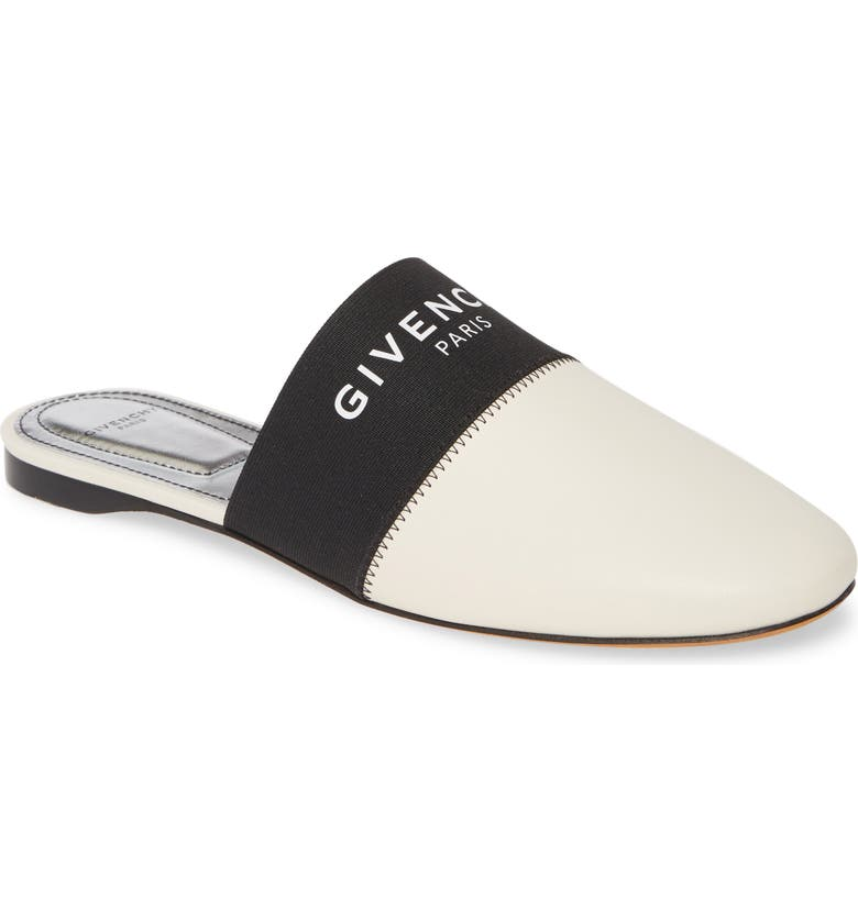 GIVENCHY Bedford Logo Mule, Main, color, BEIGE LEATHER
