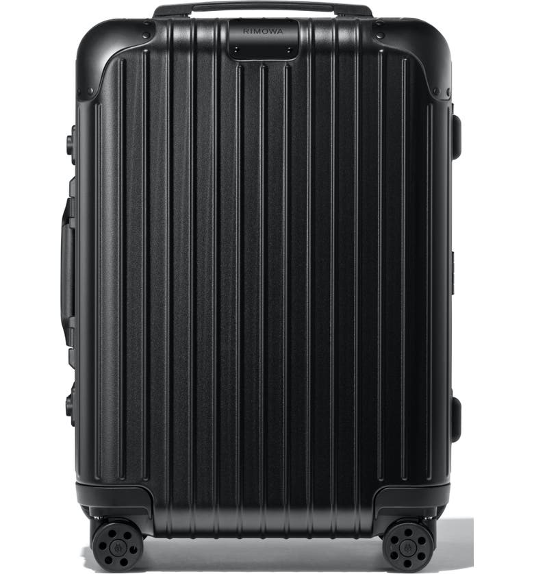 RIMOWA Hybrid Cabin 22-Inch Wheeled Carry-On, Main, color, MATTE ALL BLACK