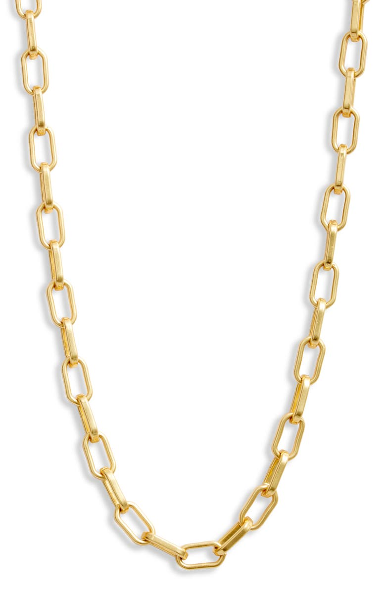 MADEWELL Edged Chain Necklace, Main, color, VINTAGE GOLD