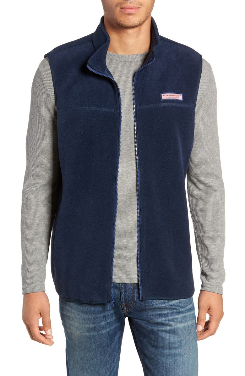 VINEYARD VINES vineyard vine Harbor Fleece Vest, Main, color, 400