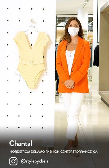 x The Salty Blonde Sundipped Cap Sleeve One-Piece Swimsuit, sales video thumbnail