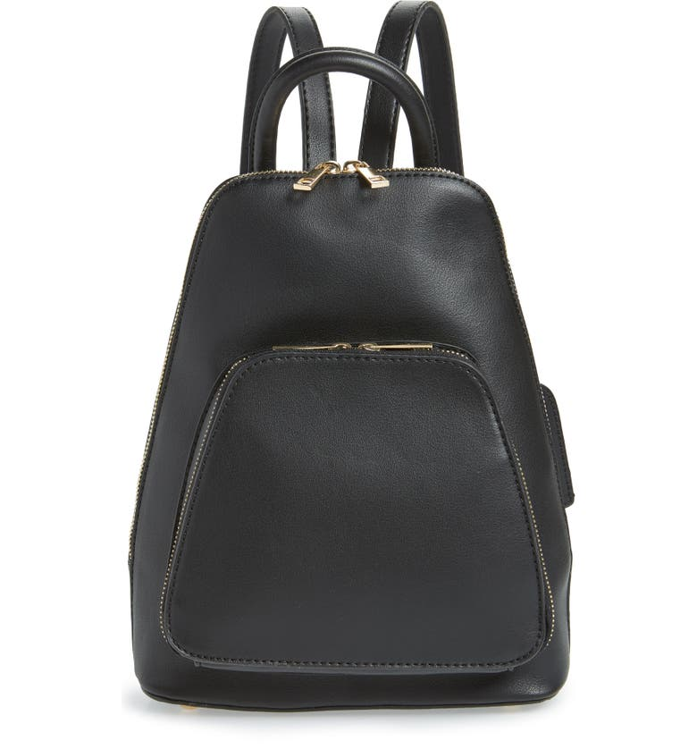 SOLE SOCIETY Aushan Faux Leather Backpack, Main, color, 001