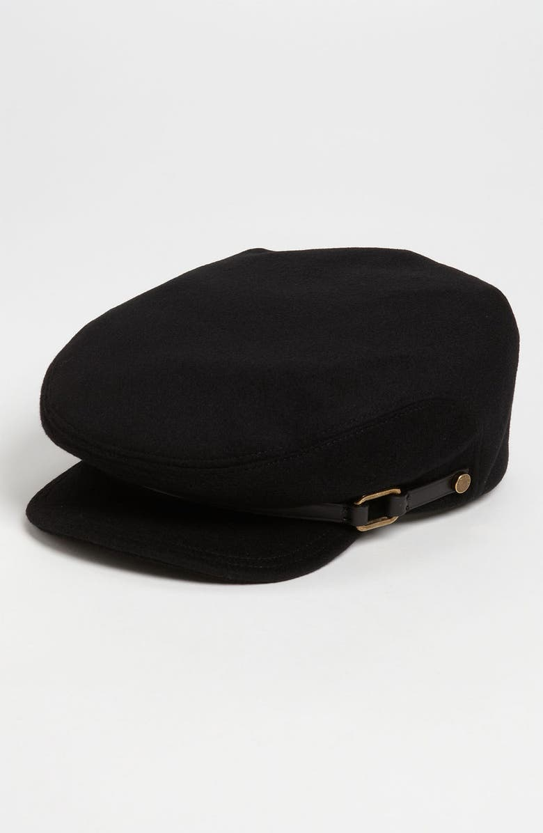 BURBERRY London Wool & Cashmere Military Cap, Main, color, 001