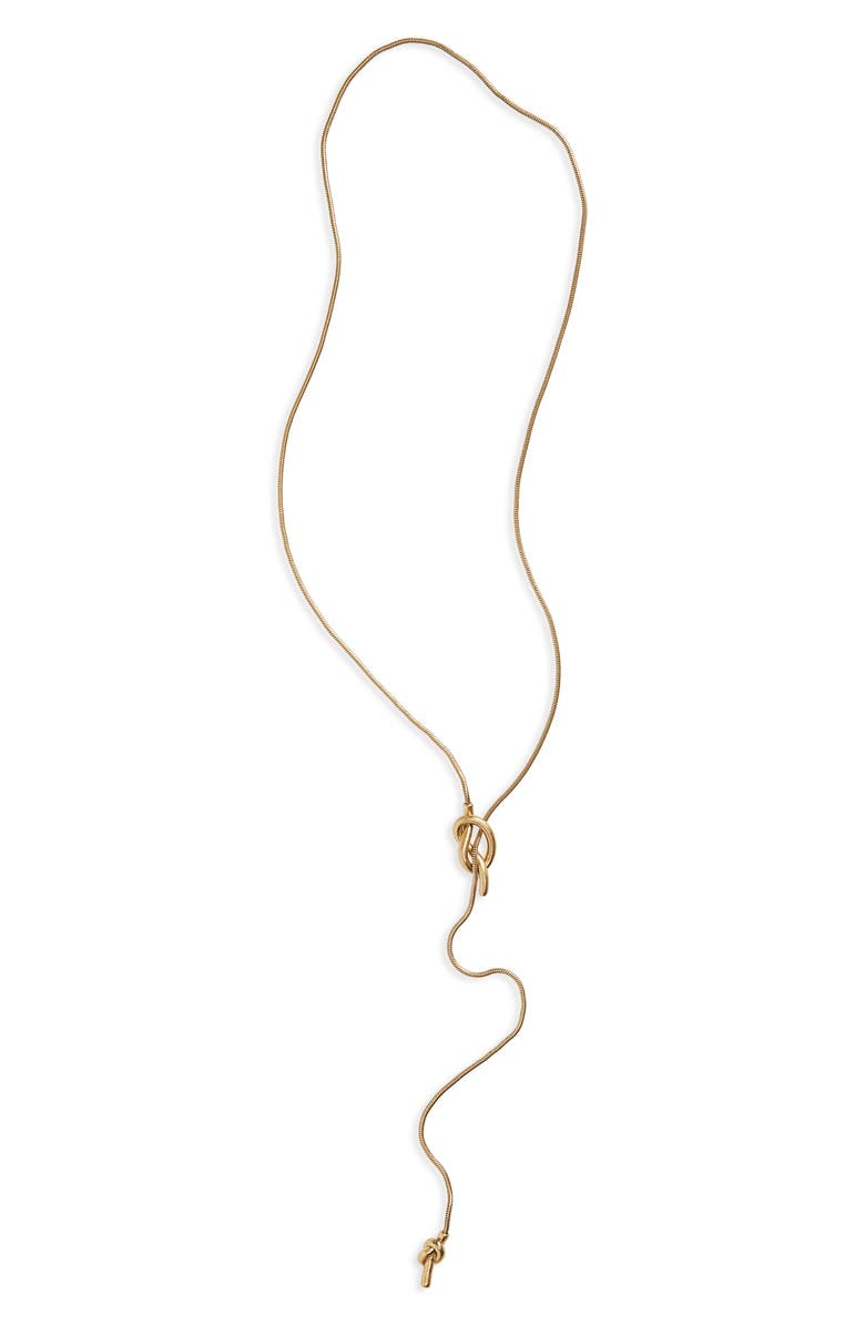 MADEWELL 'Knotshine' Necklace, Main, color, 711
