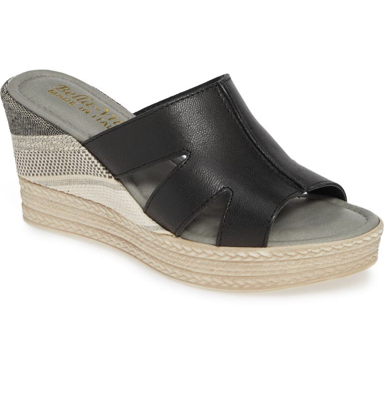 BELLA VITA Rox Wedge Slide Sandal, Main, color, 001