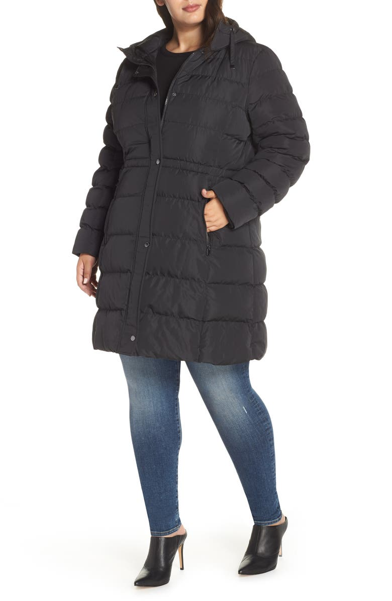 MARC NEW YORK Jersey Hooded Parka, Main, color, 001
