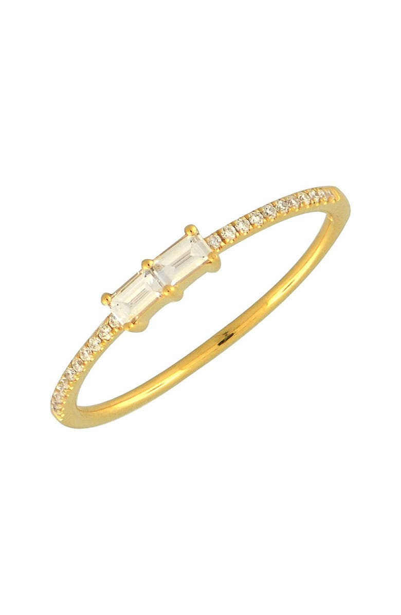 BONY LEVY Double Baguette Diamond Ring, Main, color, YELLOW GOLD