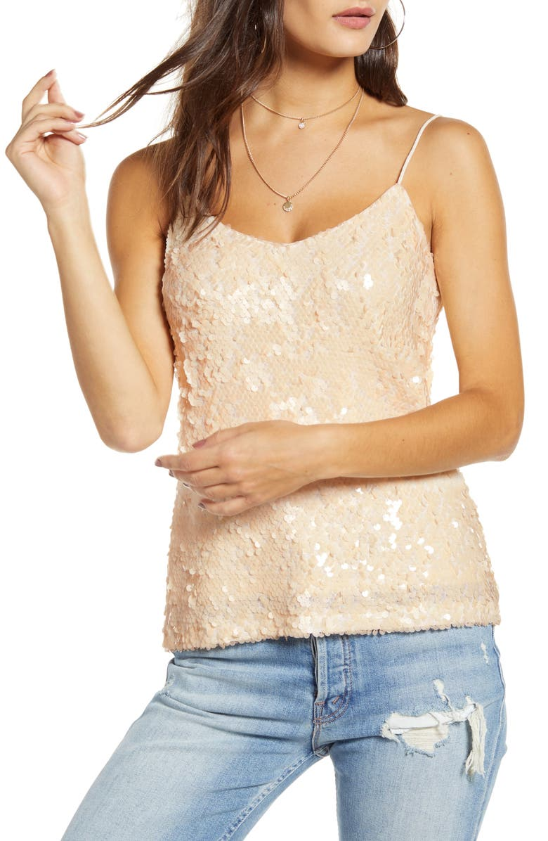 WAYF x Influencers Nashville Sequin Camisole Top, Main, color, 040