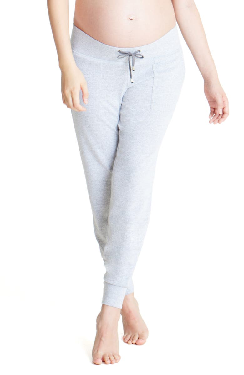 INGRID & ISABEL<SUP>®</SUP> Knit Active Maternity Joggers, Main, color, LIGHT HEATHER GREY