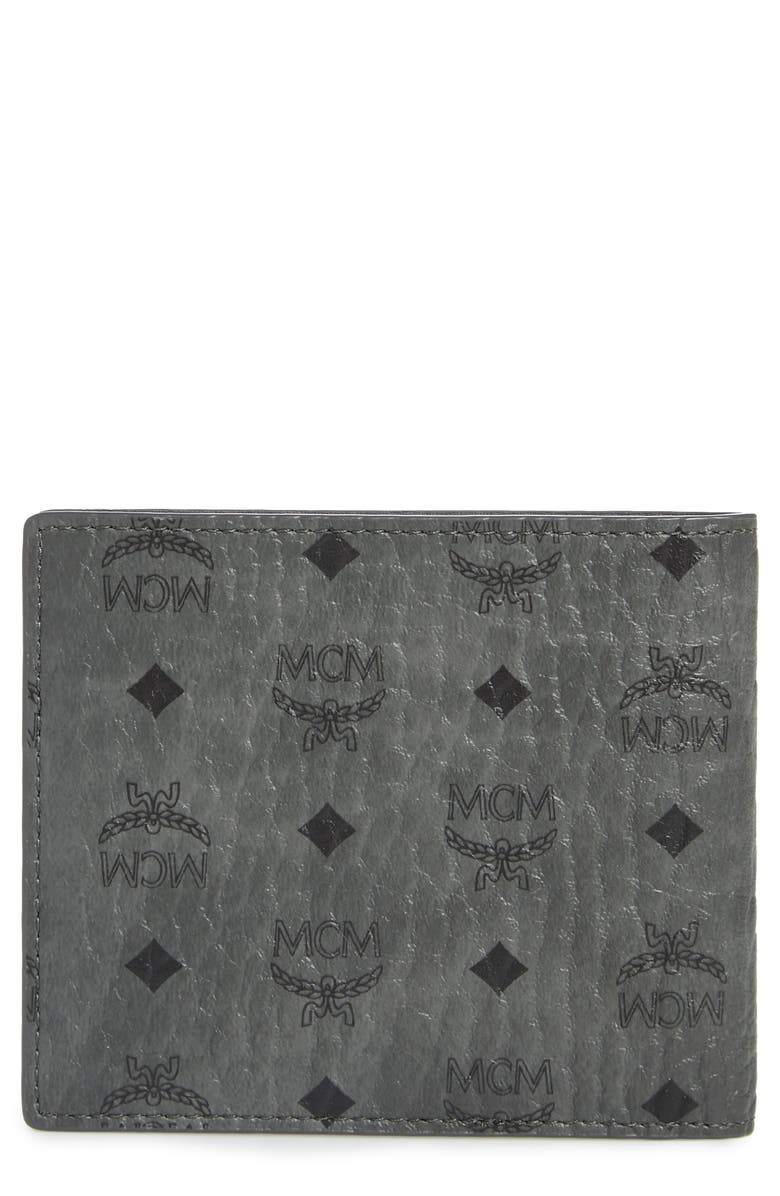 MCM Logo Coated Canvas & Leather Wallet, Main, color, 034