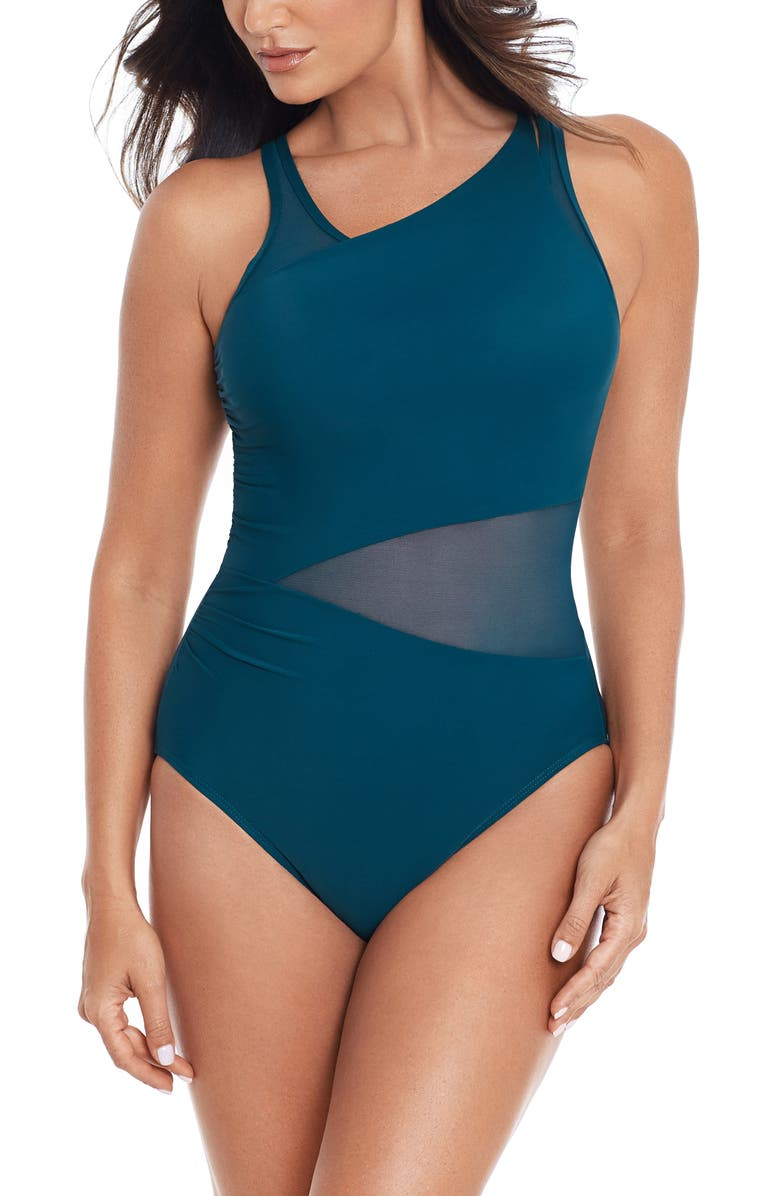 MIRACLESUIT<SUP>®</SUP> Illusionists Azura Underwire One-Piece Swimsuit, Main, color, NOVA