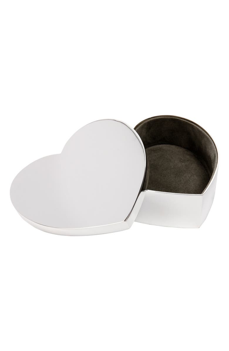 THE WHITE COMPANY Silver Plated Heart Box, Main, color, 040
