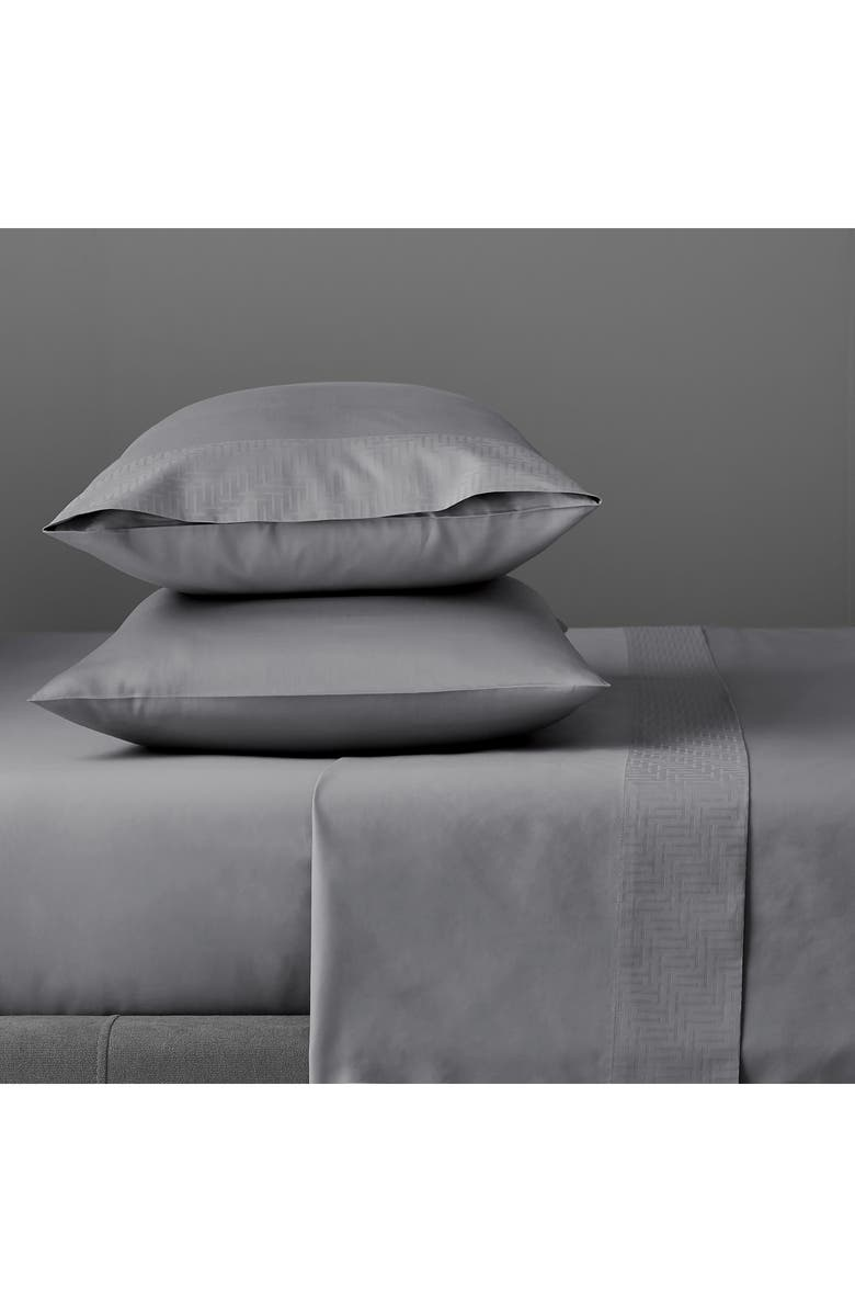 TED BAKER LONDON T-Border Set of 2 300 Thread Count Pillowcases, Main, color, DARK GREY