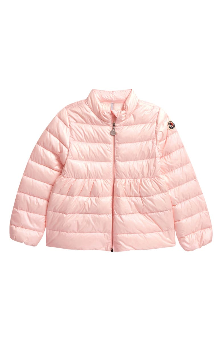MONCLER Joelle Down Puffer Jacket, Main, color, LIGHT PINK