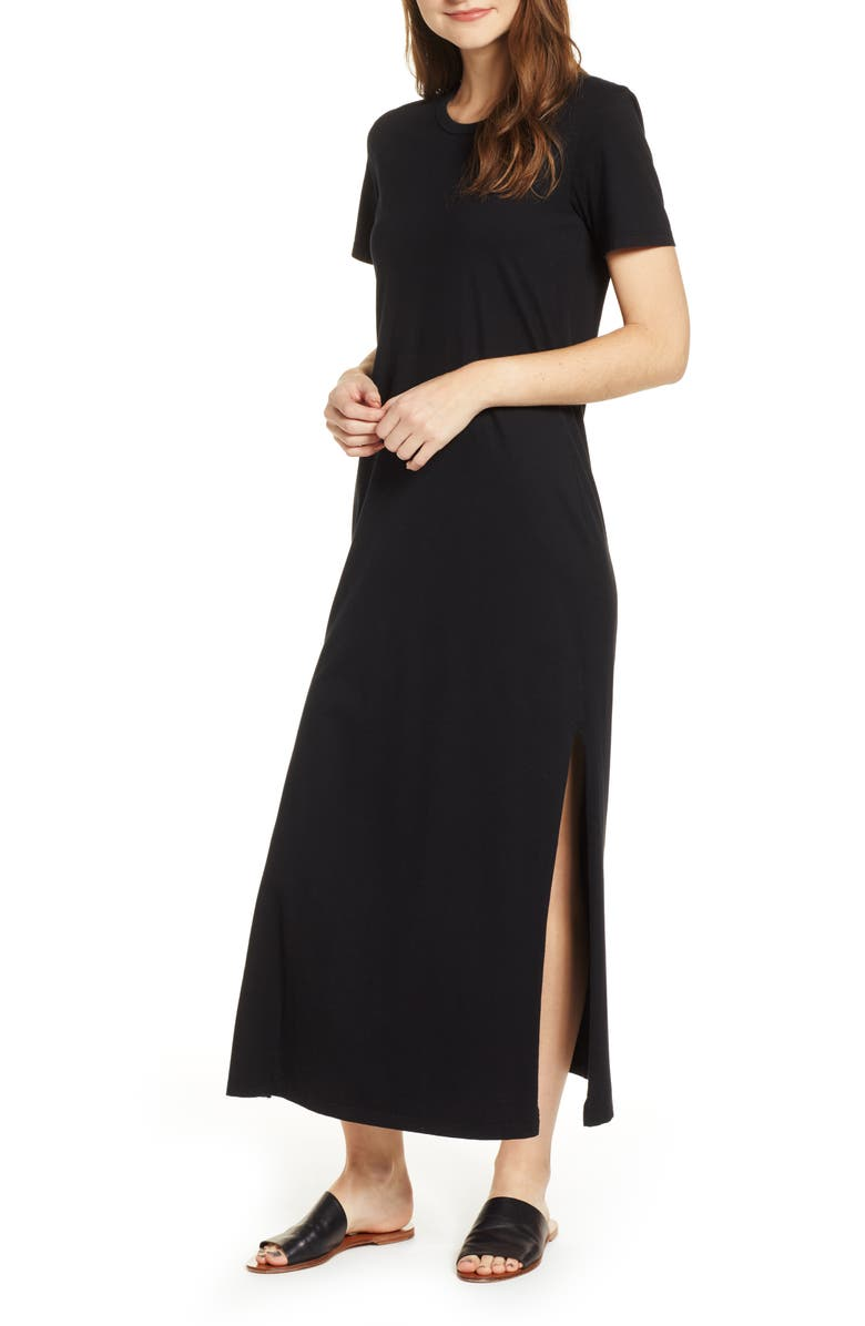 AG Alana Relaxed Maxi T-Shirt Dress, Main, color, 001