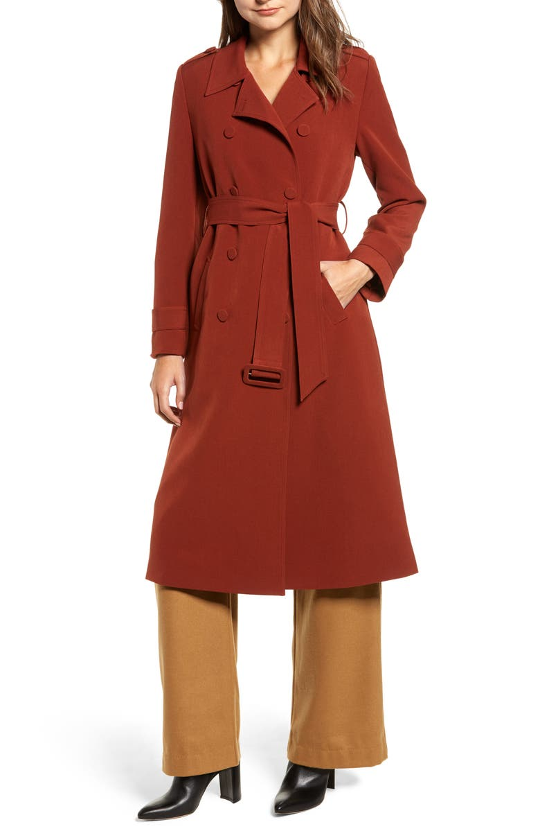 CHRISELLE LIM COLLECTION Chriselle Lim Chloe Trench Coat, Main, color, 200