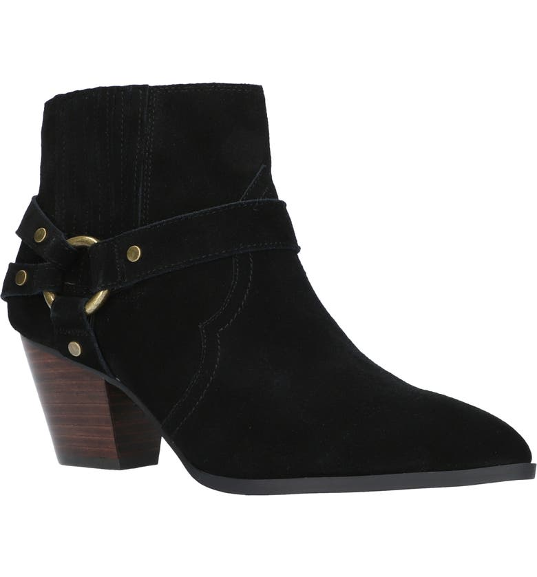 BELLA VITA Bronx Bootie, Main, color, BLACK SUEDE