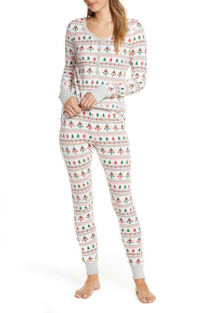 NORDSTROM Thermal Pajamas, Main, color, 900