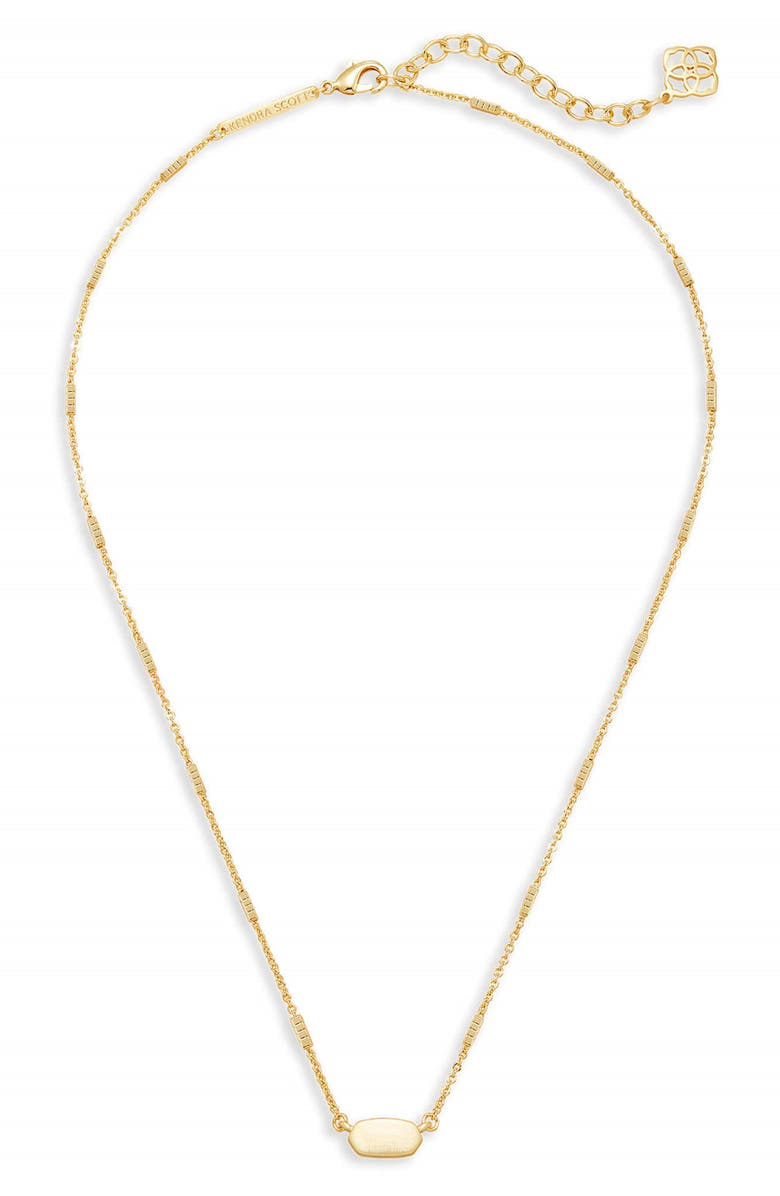 KENDRA SCOTT Fern Pendant Necklace, Main, color, Gold