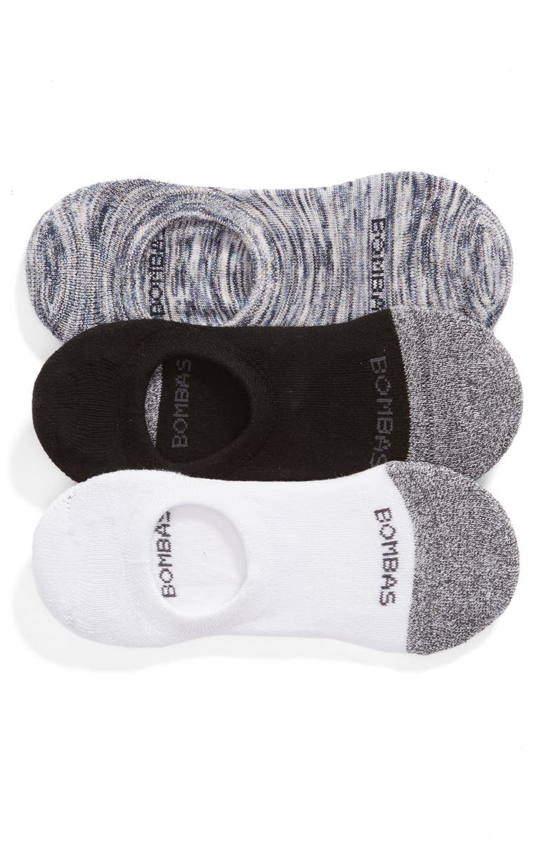 BOMBAS 3-Pack Cushioned No-Show Socks, Main, color, 020